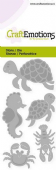 Craft Emotions Die - Turtle, Seahorse - 115633/0248
